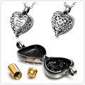Hot selling Always in my heart memorial urn locket cremation urn pendant vintage flower design ashes jewelry