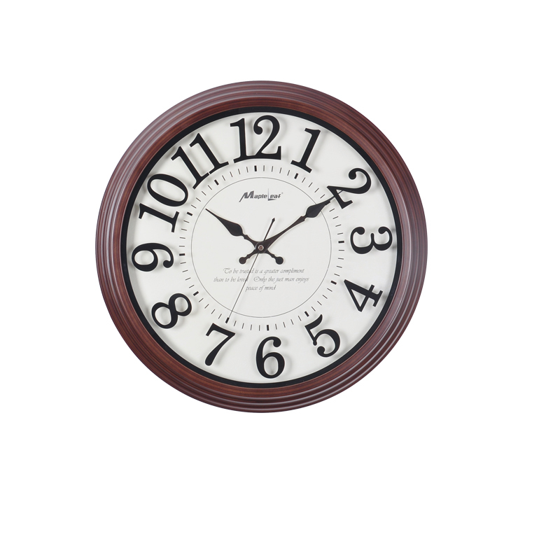 European vintage living room wall clock 16 inches mute for Modern living room clocks