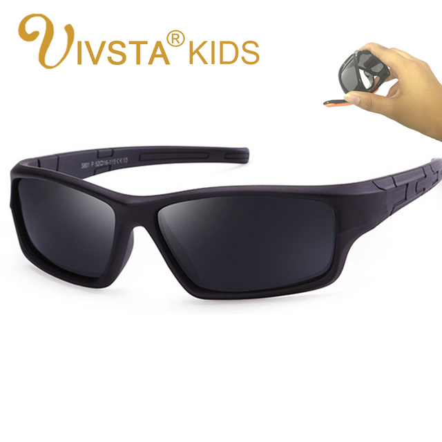 4a74258af0c IVSTA Girls Kids Sunglasses Polaroid TAC Polarized Flexible Glasses Children  Sun Glasses kids Safe Sport Pink Sports Boys H01