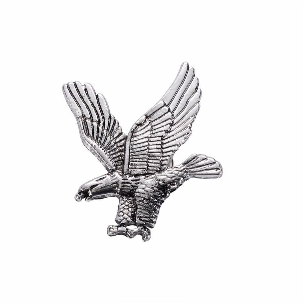 Jewelry Fashion Mens Bird Eagle Antique Silver Gold Tone Brooch Pin Ornament