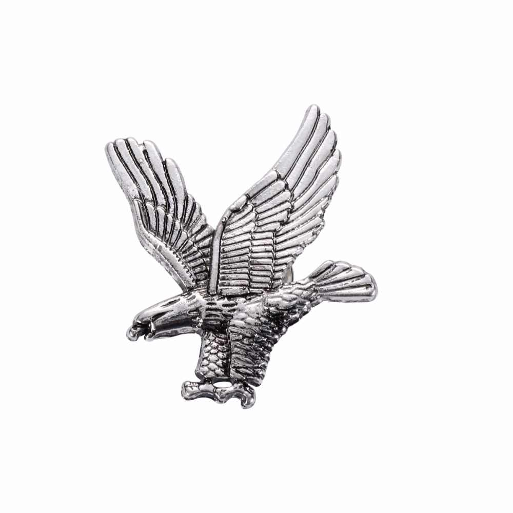 New Arrival Fashion Unisex Jewelry Eagle Animal Brooches Golden Silver Birds Suit Pin Men Women Brooch Lapel Pins Cool XS262