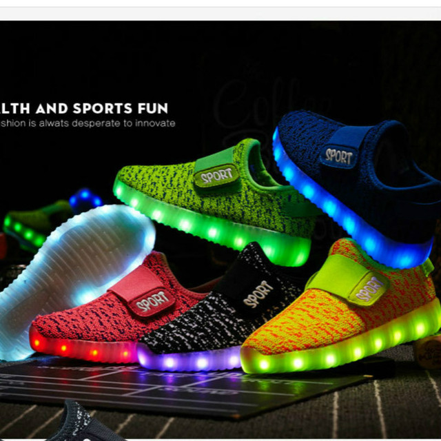 2018 New Usb Charging Led Children Lighting Shoes With Light Up S Boys Kids Glowing Illuminated
