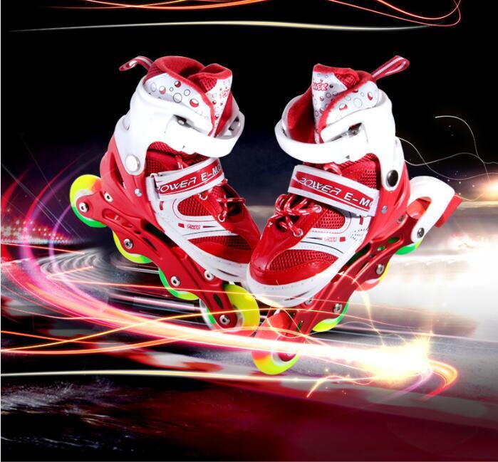 Enfants/Adulte Pro Patins à roulettes chaussures grandes roues sécurité patins chaussures Skate Chaussures À Roulettes Respirant et Portable qualité