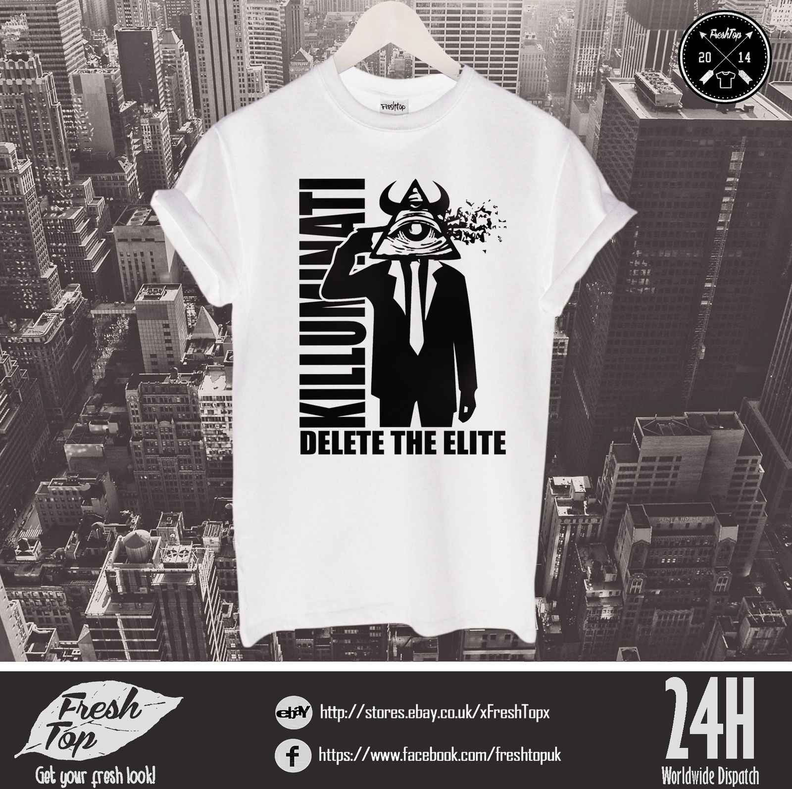 6ef8f3e0ce8e3 Killuminati Illuminati T Shirt New World Order Eye Traingle Symbol Mason  Top Tee Cool Casual pride