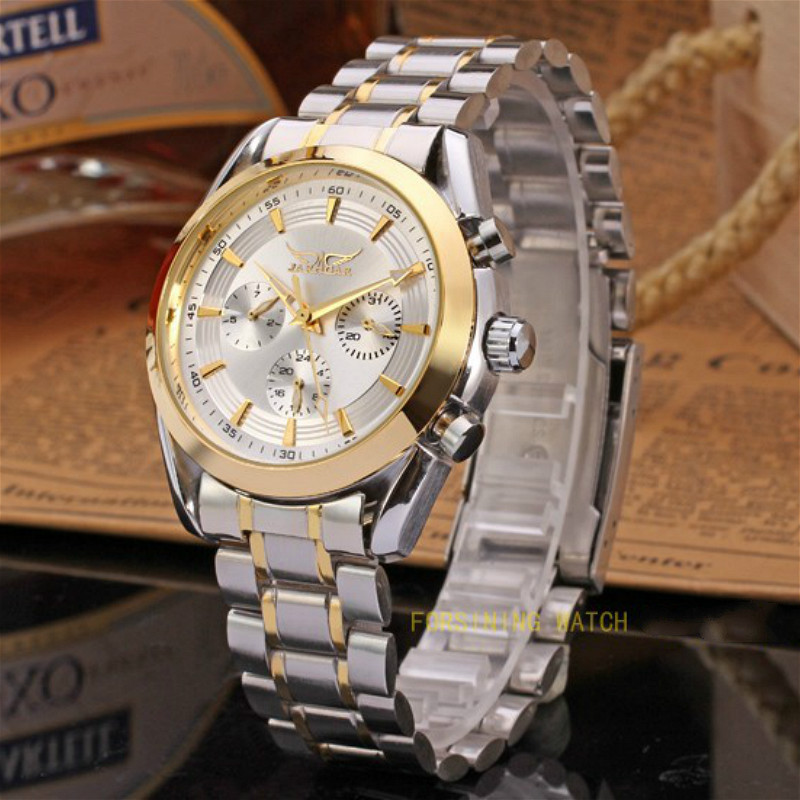 Popular Jargar Automatic Men Watch Stainless Steel Band with Gift Box jag6903m4t1 new popular jargar automatic men watch factory stainless steel band best price free shipping with gift box