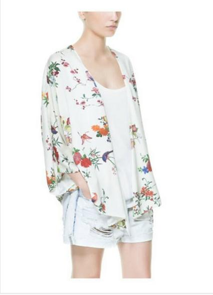 Europeo Mujeres Impreso Femenino Las Verano 0631 El Cardigan 2016 Blusas Y Estilo De Manga Camisas Murciélago Nueva Kimono Primavera P6xCEfqCwF