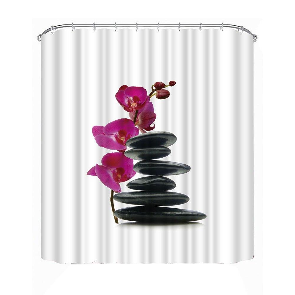 3D Prainted Gypsophila Acutifolia Flower Bathroom Shower Curtain Decoration  Waterproof Large Bath Curtain 1.8*1.8