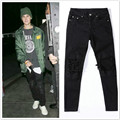 justin bieber pants Slim trousers skateboard youth fashion black skinny tether casual pants swag hip hop men trousers