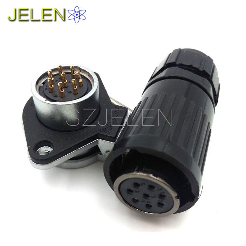 HE20, Waterproof 8 pin connectors, LED plug socket, Dust cover, Automotive Connectors, military equipment power connector sy1710 6 pin power connector 6 pin waterproof plug male 6 pin socket female led power connectors automotive connectors