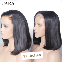 CARA Bob Wig Short Lace Front Human Hair Wigs For Women Natural Black Straight 613 Blonde Lace Front Wig 13x4 Brazilian Wig Remy