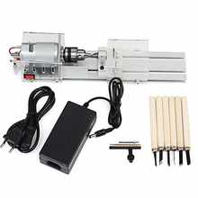 Mini Lathe Beads Machine Woodworking Drill Rotary Tool Standard Set DIY Lathe Polishing Cutting with Power Supply DC 24 - DISCOUNT ITEM  40% OFF Tools