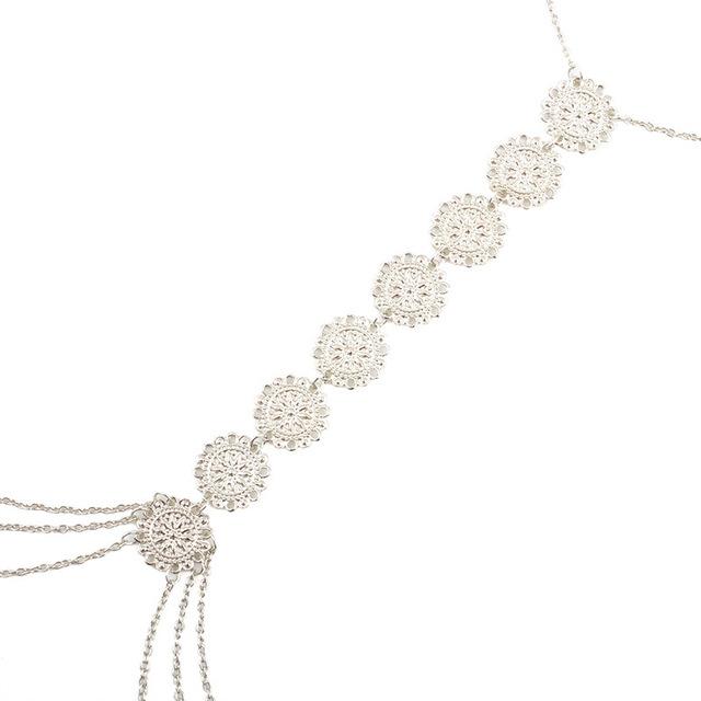 Gold-Colour Necklace Pendants Chain Alloy Long