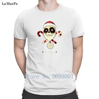 Customize Leisure T Shirt Santa Sugar Skull Mens Tee Shirt Summer Super T Shirt Man Awesome