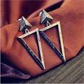 Long Big Tassels Drop Earrings Vintage Triangle Carter Earrings Bohemia Jewelry Hip hop Earrings For Women Nightclub Jewelry