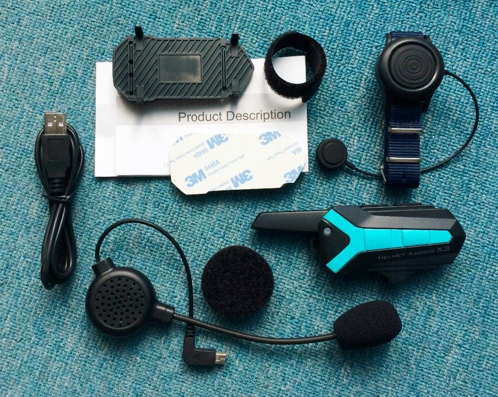 X3 Plus Bluetooth walkie talkie BT Motorcycle motorbike Helmet Hands free Intercom interphone Headset waterproof 2 way radio fjx tc 3000 fm 2 way radio walkie talkie transceiver intercom