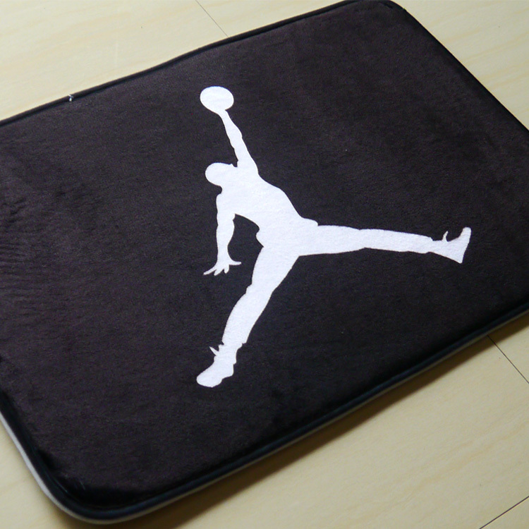 Mats Anti Slip Floor Mat Cartoon Air Michael Jordan Series Printed