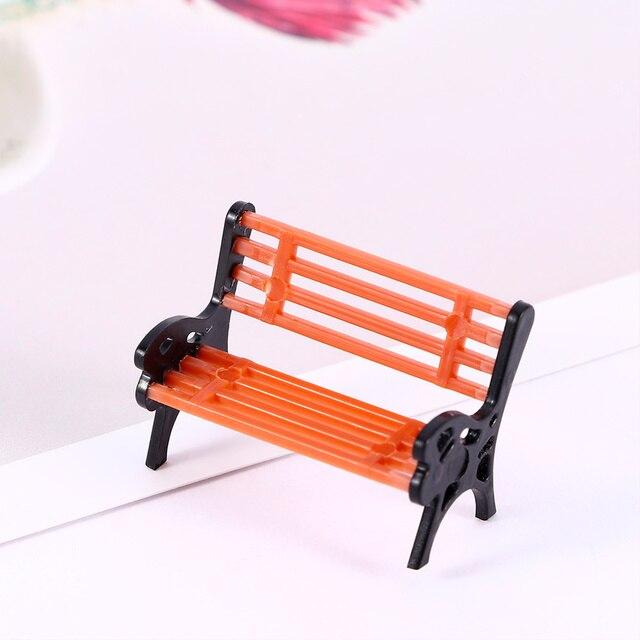 1 pc Mini Garden Ornament Miniature Park Seat Bench Craft Fairy Dollhouse Decor Micro Home Landscape Ecology Accessories 5