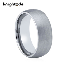 Brushed Tungsten Rings For Bridegroom Wedding Primary Colors Tungsten Carbide Band Jewelry
