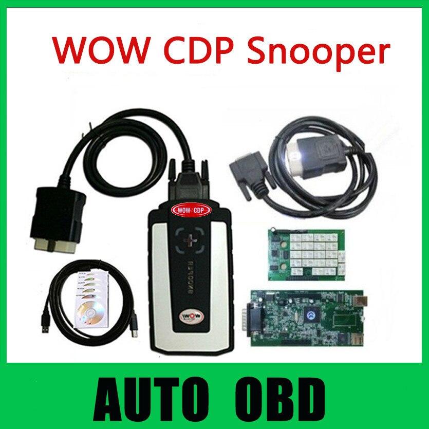 Цена за 2017 лучшие WOW CDP snooper CDP PRO bluetooth автомобиль грузовик WOW инструмент диагностики программного обеспечения V5.008 R2 с Keygen для VCI