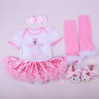 4PCs Per Set Baby Girls Halloween Ghost Pink White Tutu Dress Infant 1st Cosplay Costume Headband