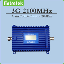 FDD Band 1 UMTS 2100Mhz mobile signal booster Gain 70dB 3G signal repeater 2100mhz (HSPA) WCDMA signal booster with Lcd display