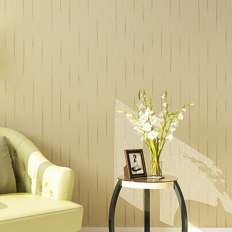 Cheng shuo plain coloured Contracted contemporary non-woven wallpaper sitting room bedroom TV setting straw on pure color spread