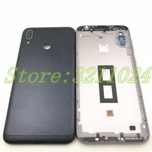 Image 2 - Ban đầu Dành Cho Asus Zenfone Max M2 ZB633KL Lưng Pin Với mặt chìa khóa + Kính Cường Lực Phía Sau Pin Cửa nhà ở + Logo