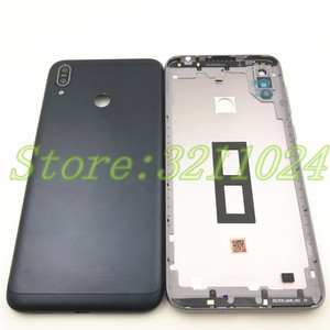 Image 2 - Originele Voor Asus Zenfone Max M2 ZB633KL Back Battery Cover Met side key + Camera Glas Lens Rear Batterij Deur behuizing + Logo