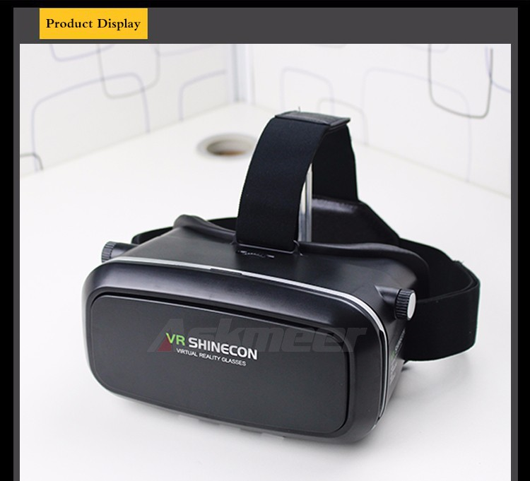 VR Shinecon VR Virtual Reality 3D Glasses Headband Cardboard Headmount Mobile 3D Movie Games for iPhoneSamsung 4.7-6 Smartphone (14)