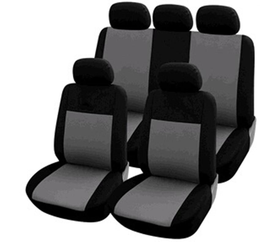 2x CAR SEAT COVER T-SHIRT VEST FRONT HEADREST BLACK Abarth 500 595