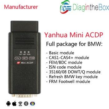 Yanhua Mini ACDP full modules for BMW CAS FEM BDC Key Program/mileage reset DME ISN code refresh key FRM Footwell