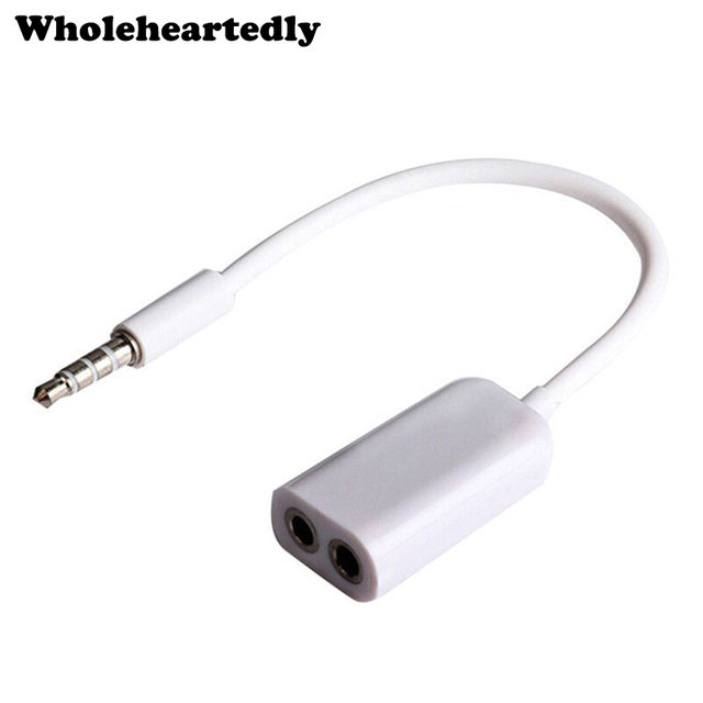 f2ecc5a52e3 WHOLEHEARTEDLY Universal 3.5mm Male to Dual Female Audio Earphone Headphone  Splitter Adpater Cable Jack for iPhone for Samsung