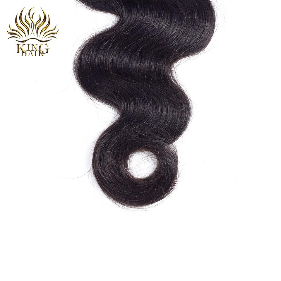 킹 헤어 레이스 클로저 브라질 바디 웨이브 레미 - 인간의 머리카락 (검은 색) - 사진 5