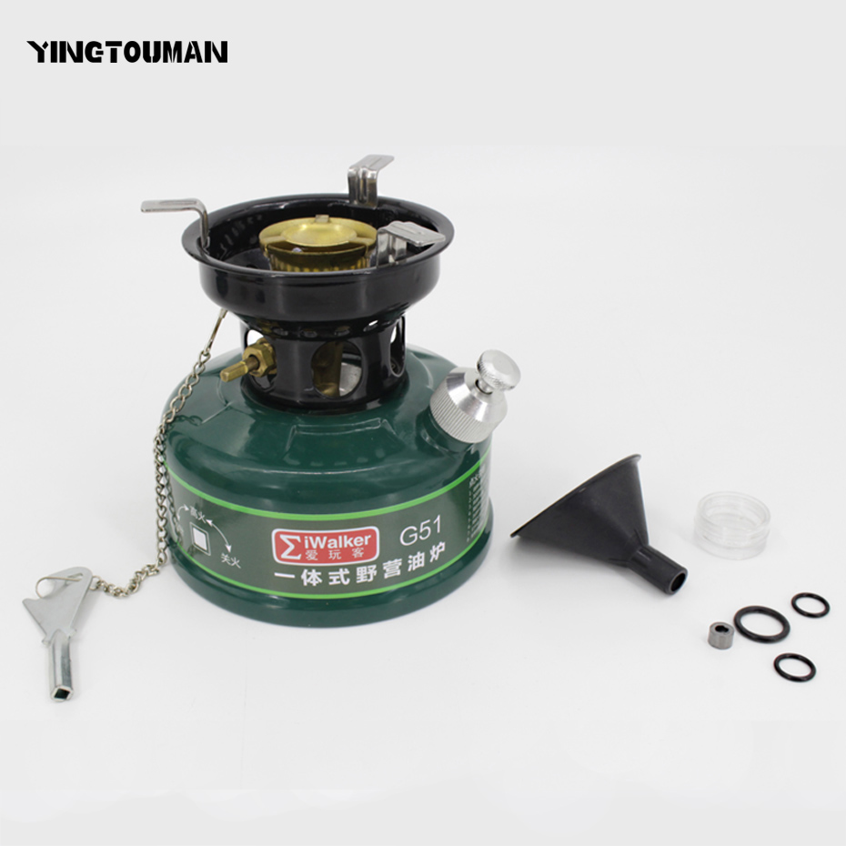 YINGTOUMAN Outdoor One-Piece Gasoline Stove 500ml Oil Stove Burners Camping Equipment Outdoor Burners Picnic Furnace fire maple outdoor gasoline stove burners portable oil