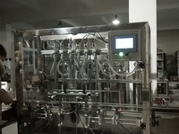 316L Stainless Steel Automatic 6 Nozzles 4L Detergent Piston Filling Machine With Diving Filling Head And