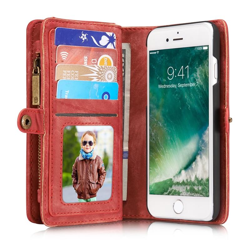 Retro lyxigt äkta läderfodral för iphone 6 6S 7 Plus väska - Reservdelar och tillbehör för mobiltelefoner - Foto 3