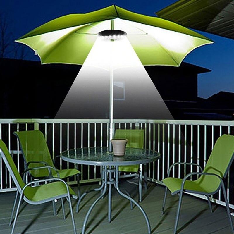 28 LED Patio Umbrella Light Garden Terrace Decoration Lamp Parasol Lighting Camping Tent Lamp Light Yard Lawn Decor Night Lamp