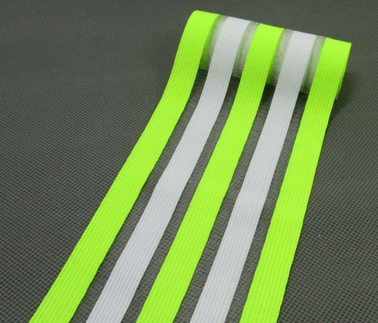 2 метра 9 см модные эластичные ленты кружева ленты пояс ремни резинка DIY девушка платье брюки юбка аксессуары для одежды - Цвет: whitefluoresceyellow