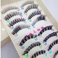 10 pairs false eyelashes handmade false lashes extension tools Upper and lower lashes mix kinds individual  fake eyelashes kit