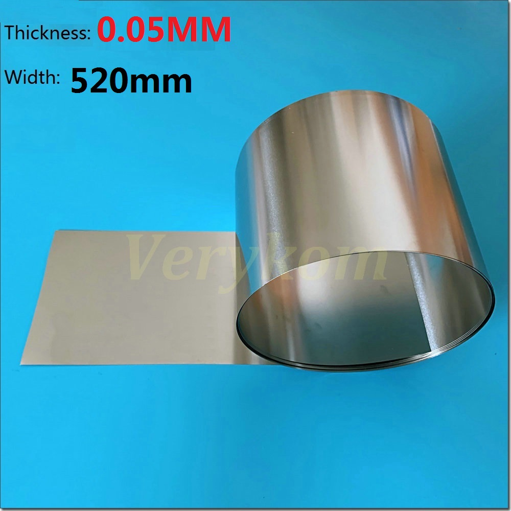 0 05mm Thickness 520mm Width 5M lot SUS SS 304 Stainless Steel Sheet Plate Foil Roll