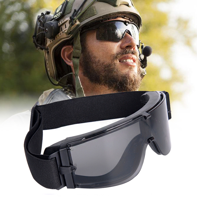 Combat de chasse X800 Militaire Lunettes Tactique lunettes de Soleil De L armée  Paintball Airsoft c11e7a8e7573