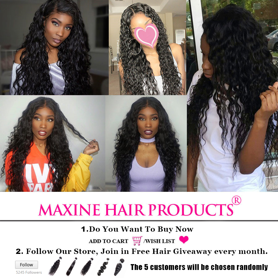 Maxine Hair Brazilian Water Wave Human Hair Bundles 100g Non Remy