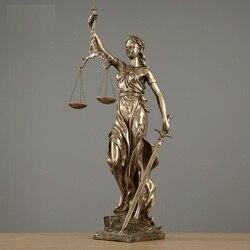 Justice Fair Themis статуи Justitia Goddess скульптура из смолы искусство и ремесло украшение дома аксессуары художественный материал R922