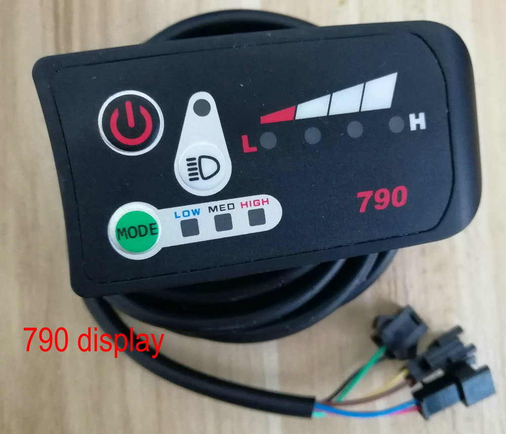 LED DISPLAY 790 MANUAL control panel electric bike scooter conversion parts lithium battery bike instrument intelligent meter smartphone