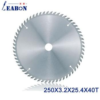 LEABON Good Quality Woodworking Saw Blade 250x40Tx3.2x25.4mm Wood Circular Saw Blade Cutting Rose Wood MDF