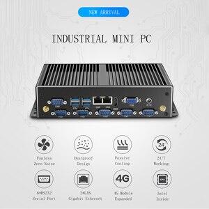 Image 2 - Industrieller lüfterloser Mini PC Intel Core i7 i5 J1900 Win10 Linux Computer Nuc Micro Computador Dual Gigabit Ethernet LAN 6COM Anschlüsse 4500U 5500U 4200U Celeron 2955U Windows 10 7 DDR3L Desktop Industrial USB3.0
