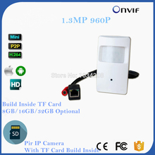 HD 960P 1 3MP 3 7mm Lens Security Indoor Mini PIR Shell Surveillance Camera IP Network