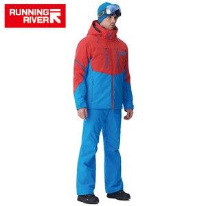 Image 2 - RUNNING RIVER ยี่ห้อผู้ชายคุณภาพสูงแจ็คเก็ตสกีฤดูหนาว Warm Hooded กีฬาแจ็คเก็ตสำหรับ Man Professional กลางแจ้งชุด # N6417O6457
