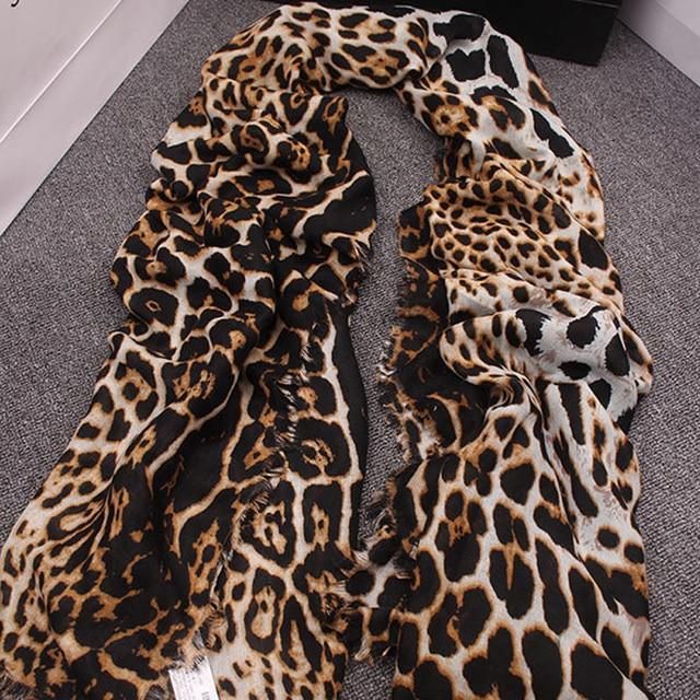Leopard Кашемировый Шарф Для Женщин Осень Зима Толщиной Шаль Моды Люксовый Бренд Шарфы Дамы Wrap Женщины Классический Шарф