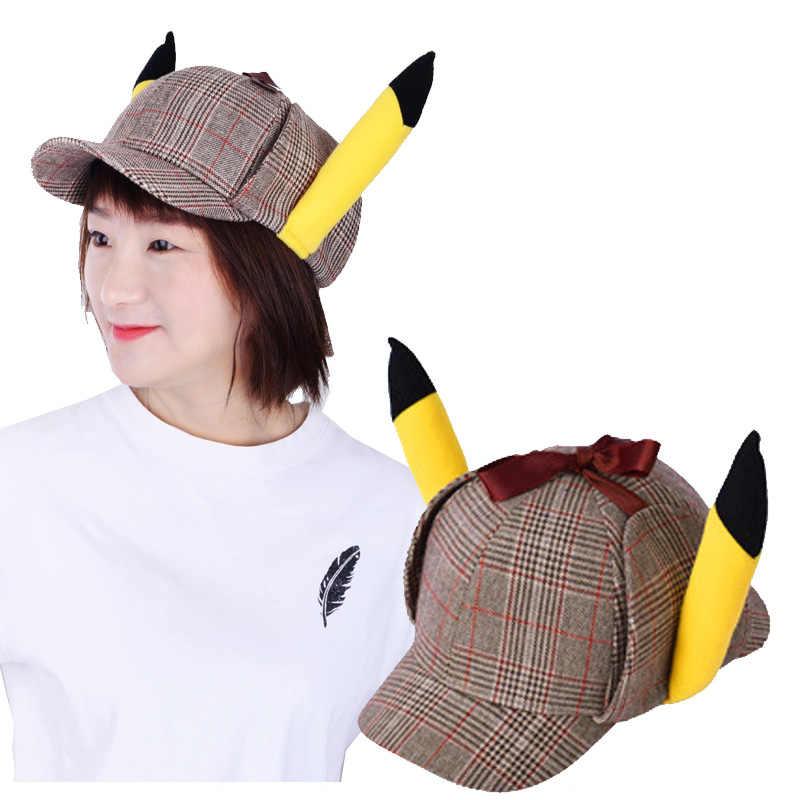 Pokemon Detective Pikachu Cosplay Pikachu Hat Live Animated Adult Costume Snapback Baseball Hat Drop Ship Wholesale Aliexpress